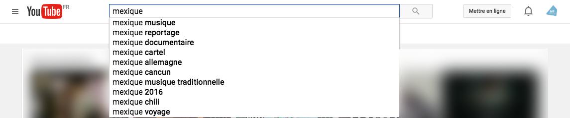 Youtube-recherche