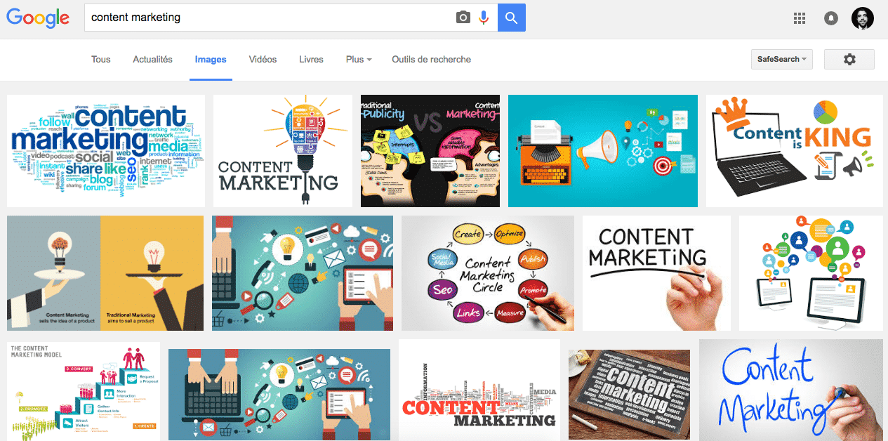 Google Images - Content Marketing