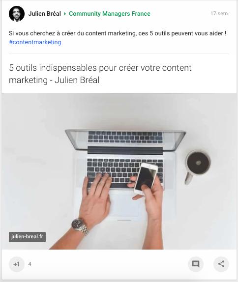 Publier sur GooglePlus