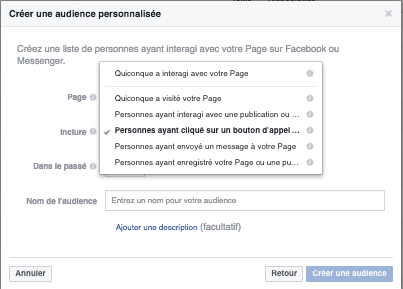 Cibler une audience personnalisée pour une page