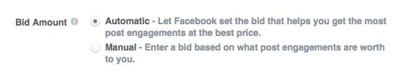 Enchère pour les publicités Facebook
