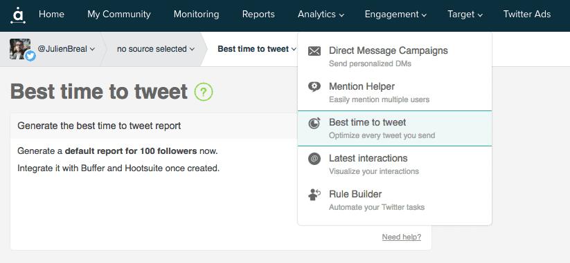 Meilleurs moments pour publier pour tweeter