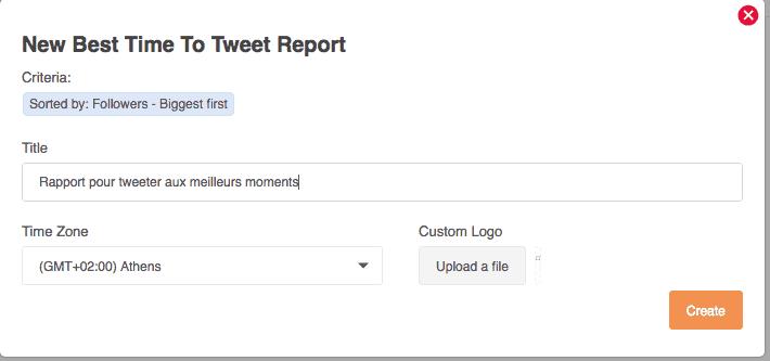 Nom à votre rapport