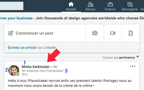 3 éléments d'un profil Linkedin