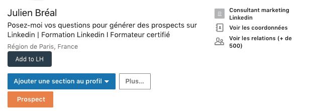 Ajouter une langue étrangère à un profil -Ajouter une section au profil