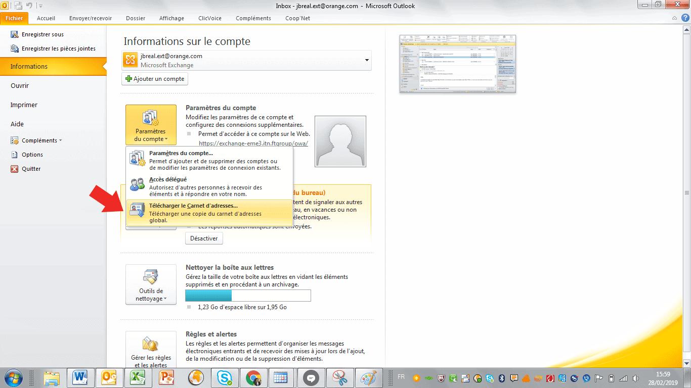 Outlook Linkedin emails
