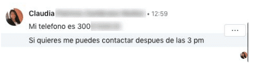 Message de prospection 2