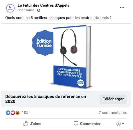 Campagne de prospection - Publicité Facebook