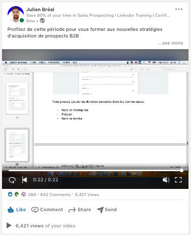 Exemple post Linkedin