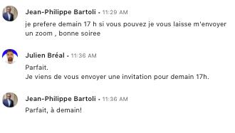 Invitation generation RDV linkedin