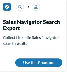 Phantombuster Sales Navigator